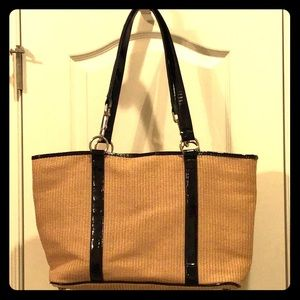 New Directions Straw & Cotton Purse
